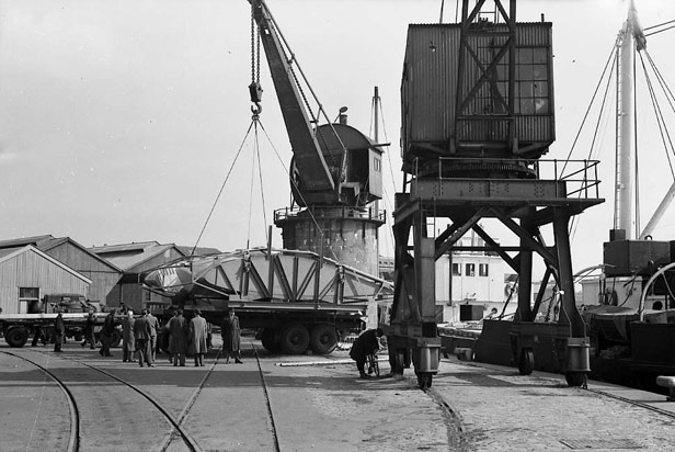 Canons Marsh steam crane, 30 March 1950