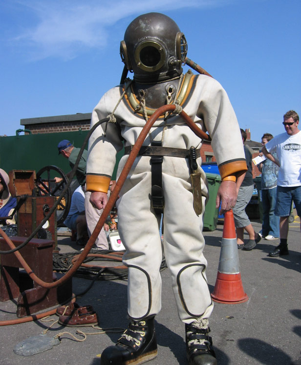 Colour picture of Diver in suit