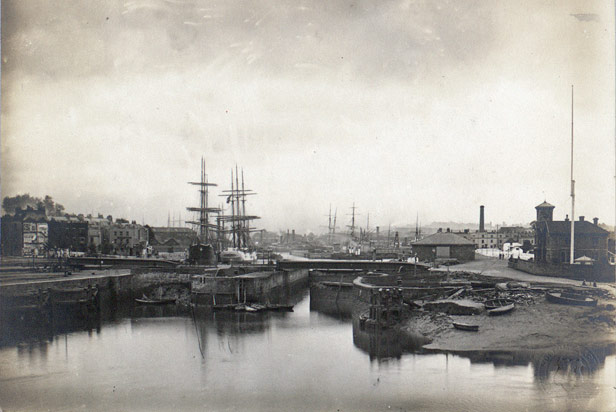 Entrance to the Floating Harbour before 1865