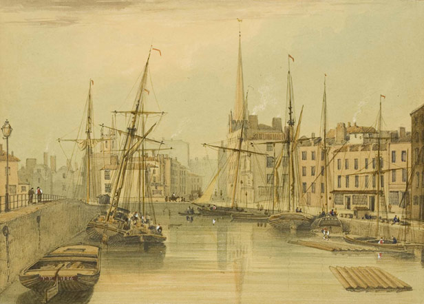 St Augustine's Reach looking towards Quay Head, 1825
