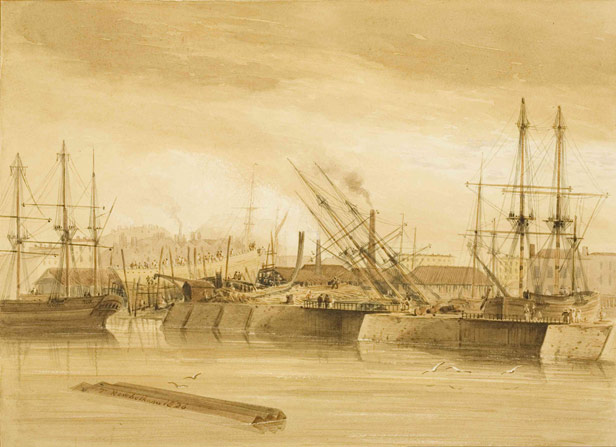 Shipbuilding and repair on East Wapping