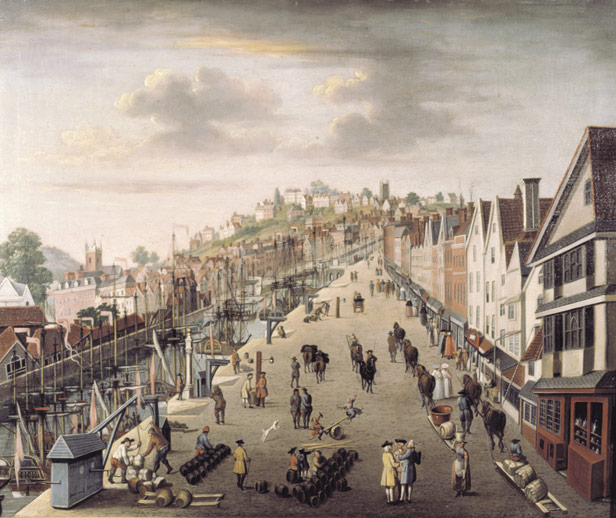 View of the port before the the Floating Harbour, 1760