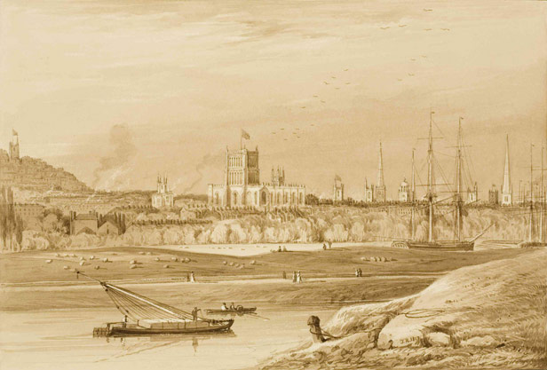 A view across the New Cut and the Harbour, 1825