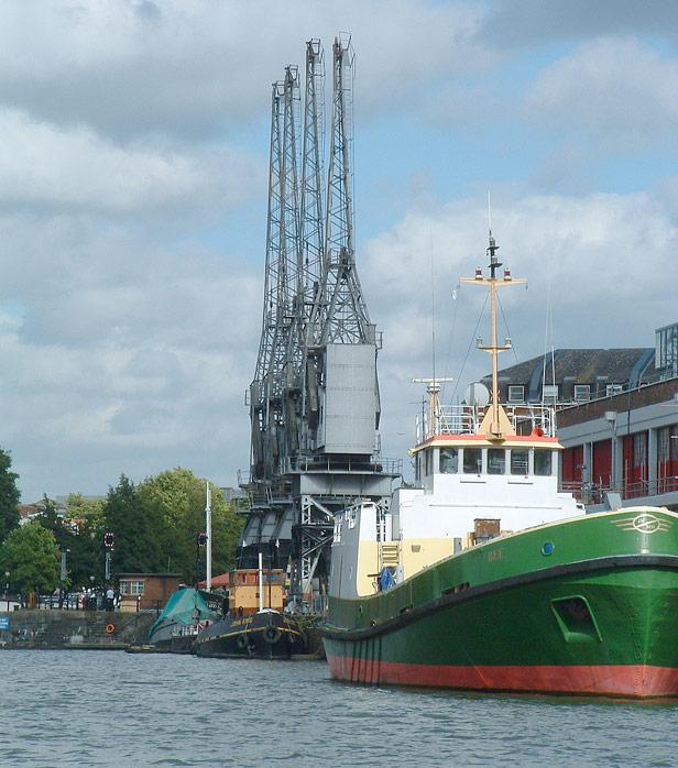 Cargo cranes at Princes Wharf, 2009