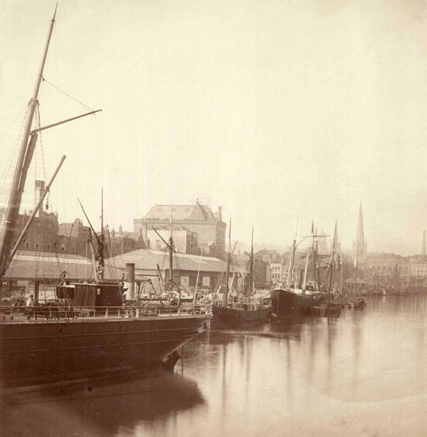 Granary from Redcliffe Bridge, 1875