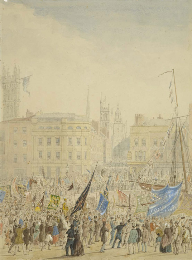 Celebrating Bristol Corporation's control of the Docks, 1848