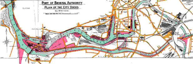 Maps Plans Bristol Floating Harbour