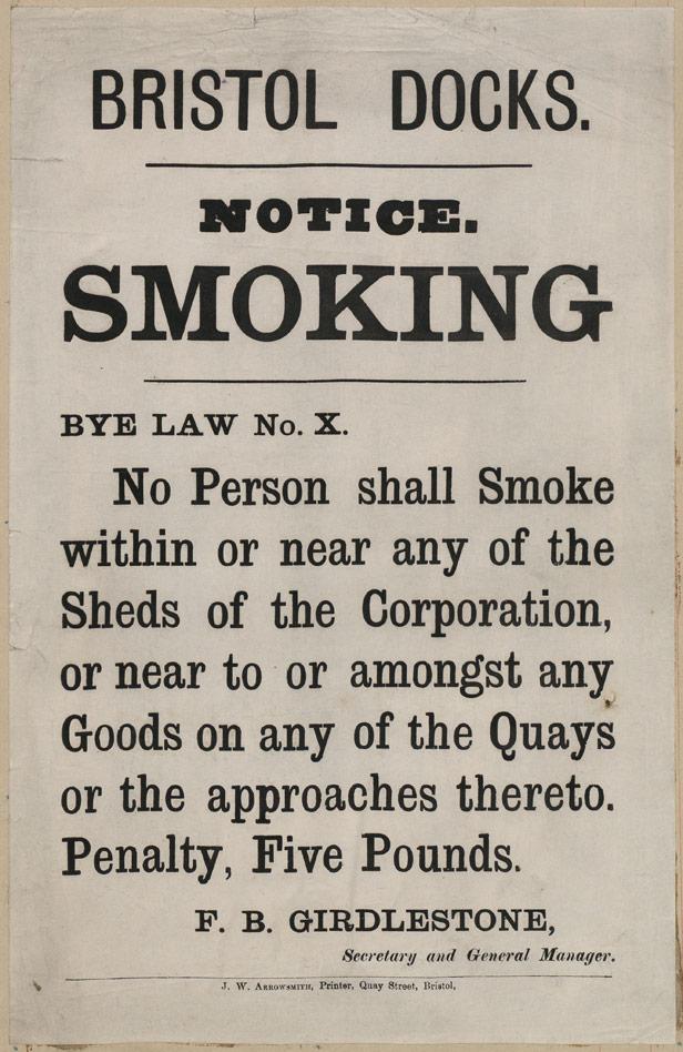 Bristol Docks Notice No Smoking