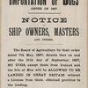 Bristol Docks Importation of Dogs Notice