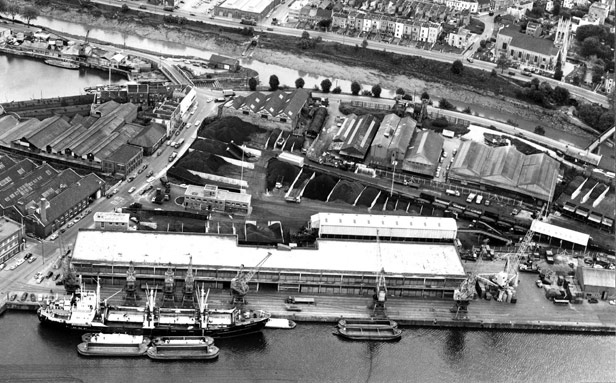 Aerial View of L & M Sheds, 1965-1969