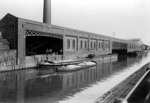 Galvanising works, on the Feeder Canal, 1920
