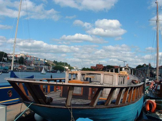Boat undergoing conversion