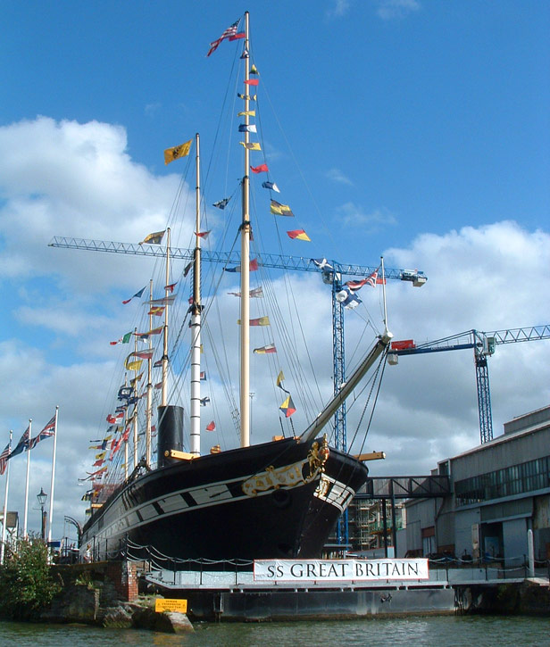 Brunel's ss Great Britain in dry dock