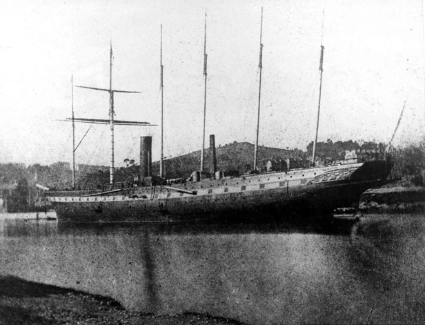 S.S. Great Britain lying at the Ballast Wharf (September 1844)