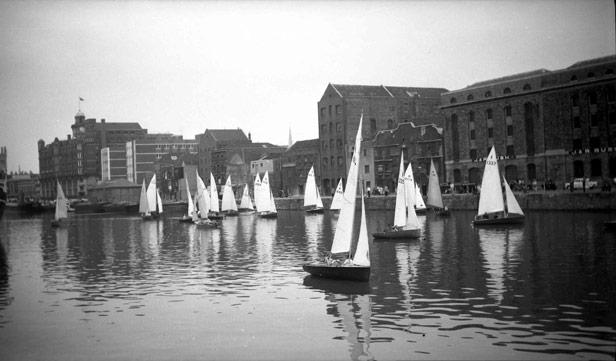 Sail boats at Narrow Quay, 1962